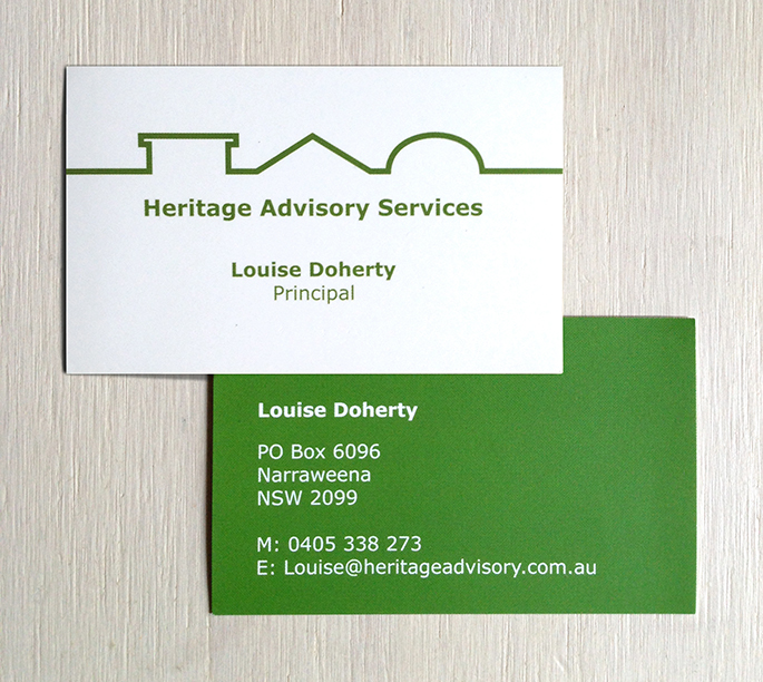 New HAS logo and business card