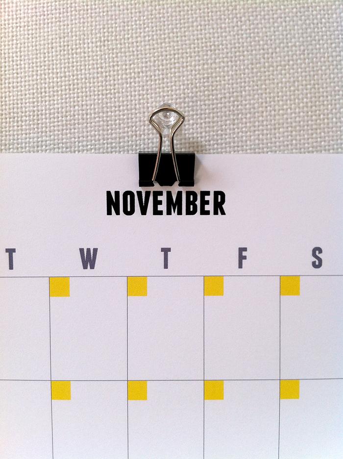 Get organised | Free printable calendar