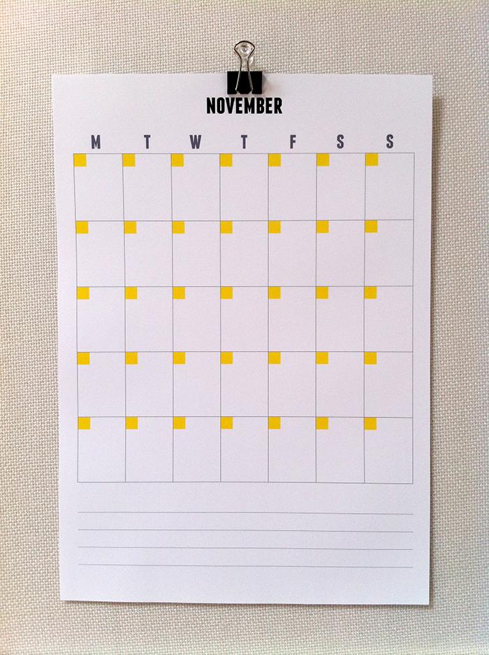 Get organised | Printable perpetual calendar