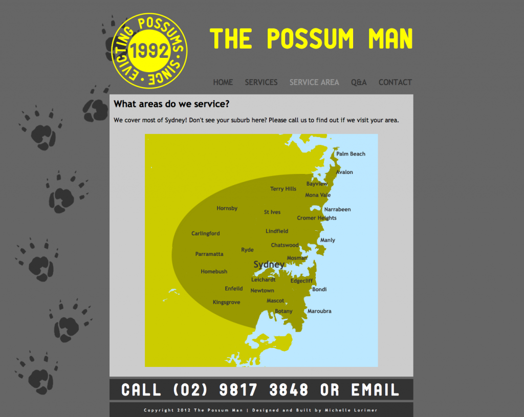 Map for The Possum Man