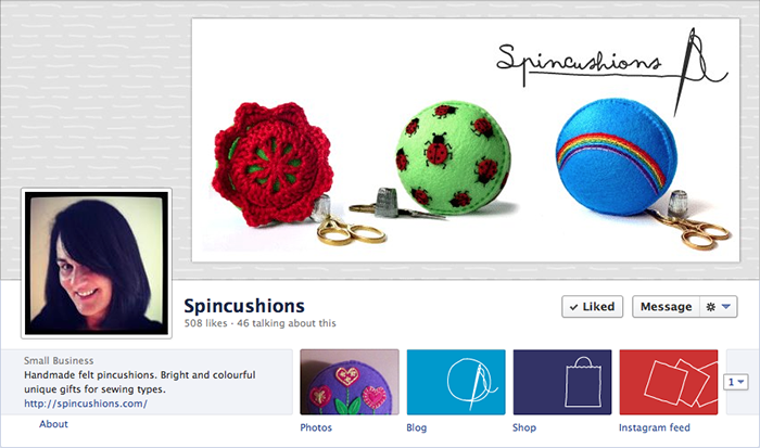 Spincushions on Facebook